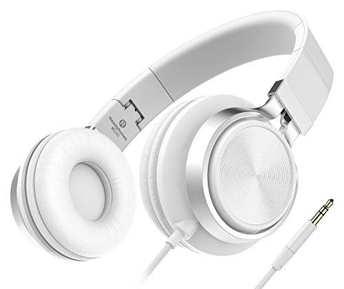 Sound Intone MS200, faltbarer On-Ear Hi-Fi Kopfhörer, 3.5mm Klinkenstecker (Weiß)  - Drucker-fall Tragbare