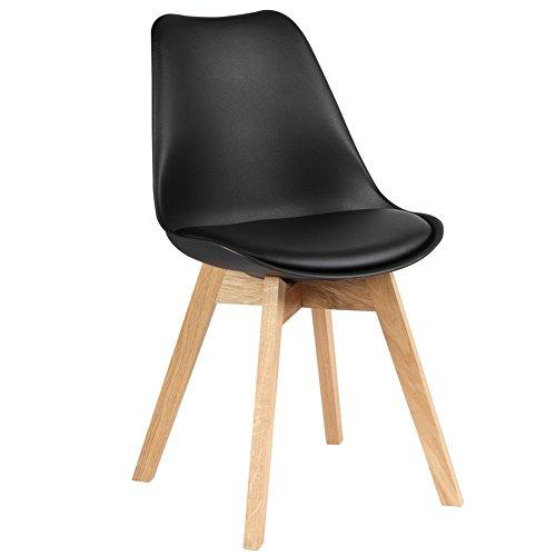Nwn Sedia da Pranzo in Pelle in Legno massello Nordico Sedia Design ...