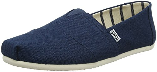 TOMS Herren Alpargata Classic Espadrilles, Blau (Majolica Blue Heritage Canvas 430), 46 EU (Canvas Slip Schuhe Toms)