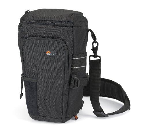 Lowepro Toploader Pro 75 AW - Funda para cámara (correa para hombro, cierre de cremallera), color negro