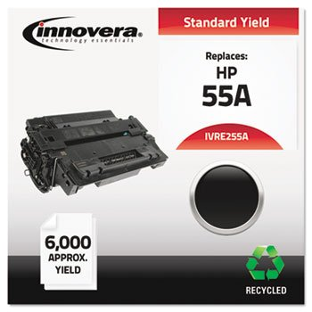Innovera Hp Toner (Innovera - E255 A kompatibel, Remanufactured, CE255 A (55 A) Laser Toner, 6000 Yield, Black, Sold as 1 Each)