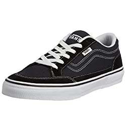 Vans Mens Bearcat Skate Shoes Black/White 12 D(M) US
