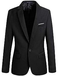 Anaisy Chaqueta De Traje De Los Slim Blazer Business Fit Hombres Joven De  Esmoquin Chaqueta De Los Hombres 1 Botón Traje De Boda Blazer… a7192137586