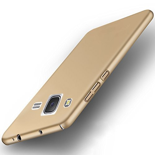 """Samsung Galaxy J2 (2015 Model) All Sides Protection """"360 Degree"""" Sleek Rubberised Matte Hard Case Back Cover (Gold)"""