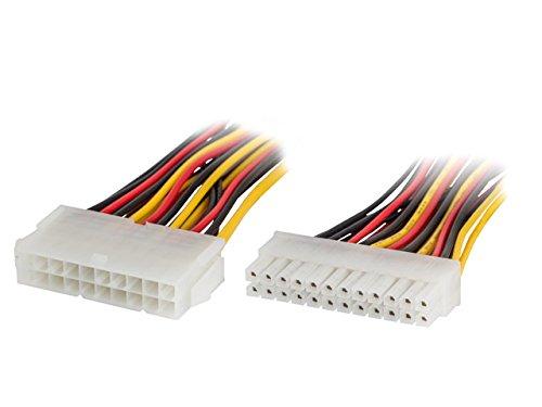 Preisvergleich Produktbild lanberg AD-0021-W ATX (20Pol) Buchse auf BTX (24Pol) Stecker Adapter mit Kabel,  15 cm Mehrfarbig