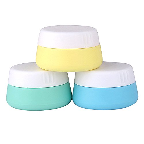 3P 20 Soft silicone vide rechargeable bouteille de crème maquillage cosmétique Eye Shadow pot récipient en poudre avec couvercles scellés