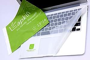 """Housse de protection pour clavier d'ordinateur portable 13 """"- Lot de 8 assiettes jetables biodégradables de protection pour ordinateurs portables 13"""", MacBook- Par LapkinTM en sachet à zip"""