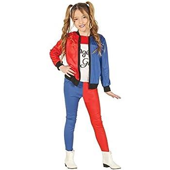 Guirca The Joker Costume Bambina da Harley Quinn 5 6 Anni, Colore Bianco,Rosso,Blu E Nero, GU88450