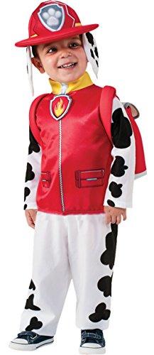 erdbeerloft - Jungen Paw Patrol Marshall Helfer auf vier Pfoten Komplett Kostüm Karneval, Mehrfarbig, Größe 98-104, 3-4 Jahre
