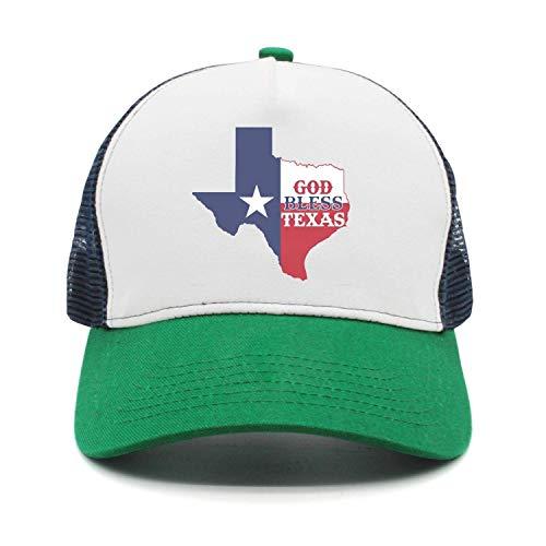 Samya Adjustable Caps Children Texas Flag Austin City Skyline Trucker Mesh Hats