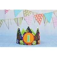 Corona de cumpleaños niño, corona de tela para fiesta infantil piratas, regalo de cumpleaños niños