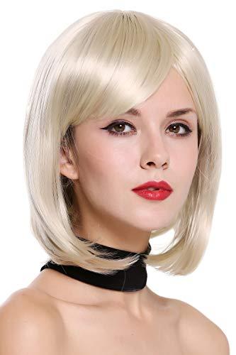 Preisvergleich Produktbild WIG ME UP - JH-713-88 Perücke Damenperücke kurz Bob Longbob geschwungene Spitzen Hellblond Blond