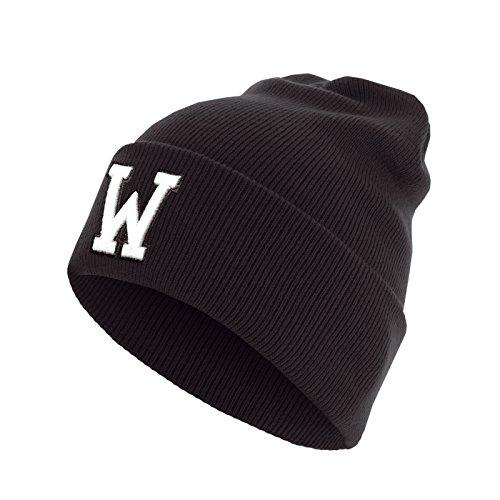 Master Dis C3 Lettre Cuff Knit Bonnet ABC Lettres bonnet W
