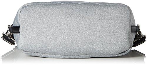 Mandarina Duck Damen Hunter Jersey Tracolla Schultertasche, 15 x 36 x 43.5 cm Grau (Paloma)