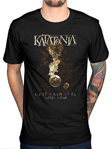 Ufficiale Katatonia Last Fair Deal sceso maglietta Heavy Metal Black Large