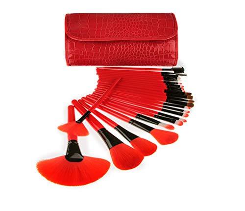 Jiahe 24pcs professionelle Make-up Pinsel Set rot Langen Griff Make-up Set nass und trocken geeignet...