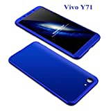 HRV NEW360RL-9006 Front and Back Case Cover with Tempered Glass for Vivo Y71 (Blue)