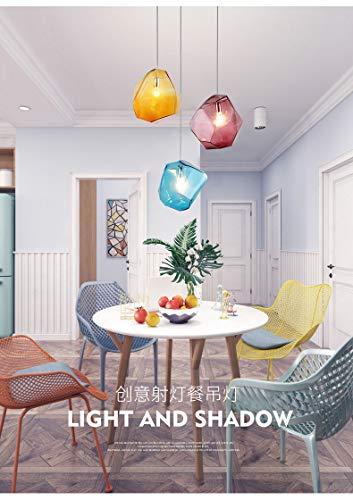 Moderne Pendelleuchte/Licht/Kronleuchter/Deckenleuchte LED Glas Kristall bunt für Schlafzimmer/Esszimmer/Bar/Cafe, 3 Lichter-B - 3-licht-moderne Pendelleuchte