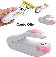 Sevenamaze Hr Amaze Plastic Mini Portable Sealing Heat Handheld Packaging Bag Impulse Sealer Kitchen Tool (H34, White)