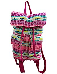 Vershaa Designer Casual Mini Bagpack White & Pinkish In Color ; Shoulder Bag For Women's