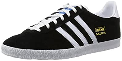 adidas Originals Gazelle OG, Herren Sneakers, Schwarz (Black 1/White/Metallic Gold), 41 1/3 EU (7.5 Herren UK)