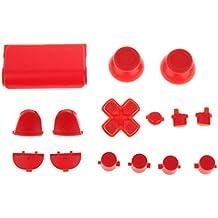 Reemplazo Kit de Botón de Tapa L2 L1 R1 R2 Thumbstick para Sony PS4 Controlador Negro
