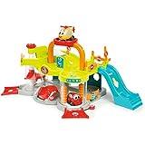 Smoby Toys, 120402, Vroom Planet, Premier Garage, + 1 Voiture et + 1 Hélicoptère Inclus