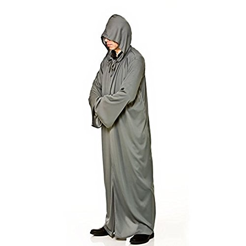 Hooded Robe - GREY Adult ()
