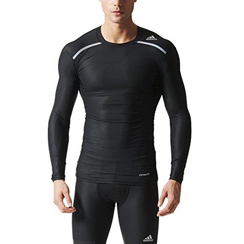 adidas Herren T-shirt Techfit Chill Langarmshirt Longsleeve Black M