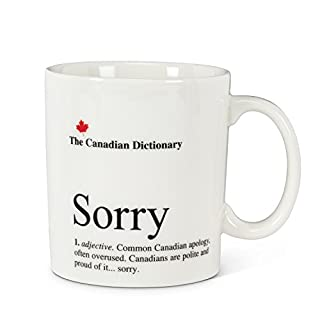 Abbott Collection Sorry Canadian Dictionary Mug, White, 16 Ounce