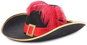 César H014-001 - Sombrero con pluma para disfraz de d