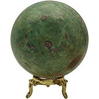 HARMONIZE Reiki Healing Stone Bereich Kugel Rubin Fuschite Stone Balancing Art Tischdekoration preisvergleich bei billige-tabletten.eu
