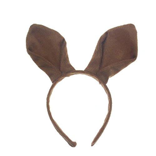 Känguru Plüsch Kostüm - Bello Luna Kangaroo Ohren Stirnband Handgefertigte Plüsch Party Zubehör Cosplay Kostüm