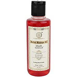 Khadi Sandalwood Massage Oil, 210ml