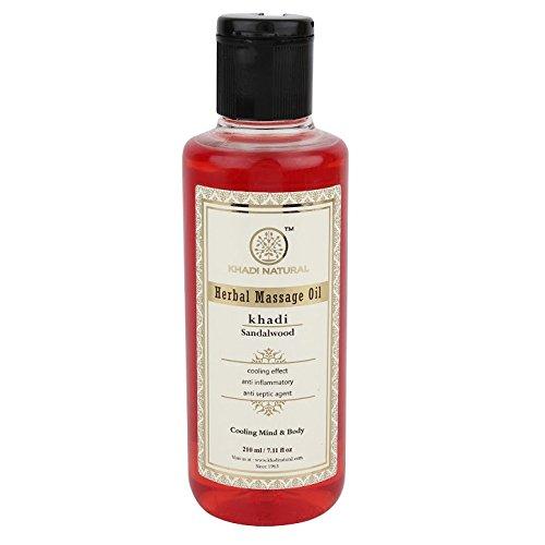 Khadi Sandalwood Massage Oil, 210ml