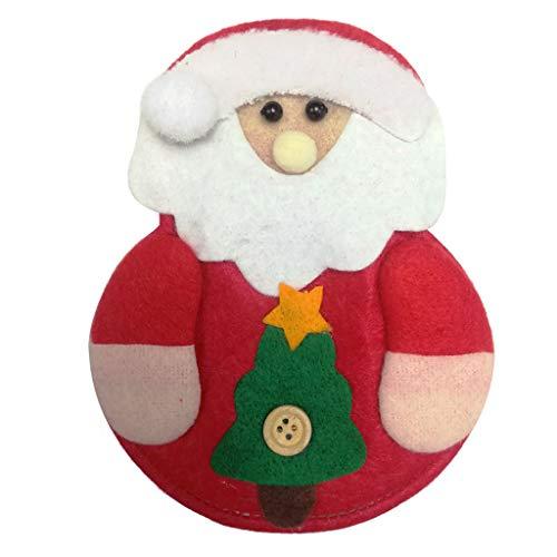 TwoCC Weihnachten Xmas Decor Santa Kitchen Geschirrhalter Pocket Dinner Bag -