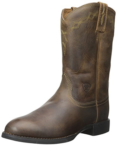 Ariat Stiefel Heritage Roper Distressed Brwon | Farbe: Distressed Brown | Größe: 6,5 (40) (Stiefel Distressed Fashion)