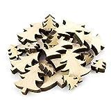 INNA Glas Deko Holz Tannenbaum/Streudeko, 18 er Set, beige - Tischdeko/Tisch Weihnachtsdekoration - monsterkatz