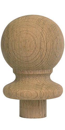 Trade Treppe Teile 5060473141018Ball GAP Eiche Treppe Newel Post, braun (Eiche-ball)