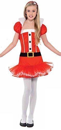 Teenage & Mädchen Tutu Mrs Santa Claus Kostüm & Bolero Outfit 7 (Mädchen Kostüm Mrs Claus Für)