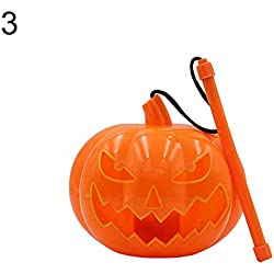 FeiyanfyQ Halloween Pumpkin LED Lámpara Jack O Linterna Flash de mano juguete de luz para niños