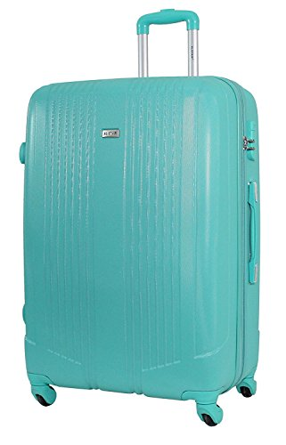 Valise Grande Taille 75cm - ALISTAIR Airo - ABS ultra Léger - Dimensions pour compagnie Low Cost - 4 roues (Green)