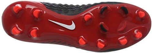 Nike Magista Onda II DF FG, Chaussures de Football Homme Multicolore (Noir/Rouge Université/Cramoisi Brillant/Blanc)