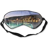 Schlafaugenmasken für Latanya Bodrum Strand Truthahn Hotel Pool Dämmerung Licht Sonnenbett Reflexionsdruck Seide... preisvergleich bei billige-tabletten.eu