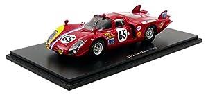 Spark-Miniatura de Coche Alfa Romeo T33/2Le Mans 1968(Escala 1/43, S4371, Rojo/Amarillo