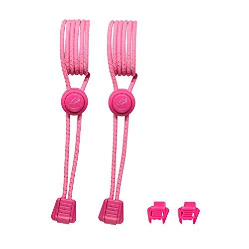 SCHNÜRRLIE Elastische Sport Schnürsenkel - Flexible Reflektierende Bänder - Schnürsystem Pink