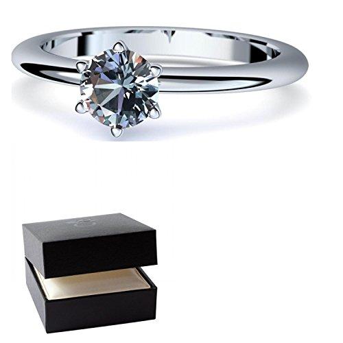 Blautopas Ring Silber 925 (***sehr hochwertiger Blautopas 5 mm***) + GRATIS Luxusetui Silberring blauer Stein Silberring Blautopas Blautopasringe Ringe Damen Schmuck AM195 SS925BTFA56 (Kostüme Aus Der Schachtel)