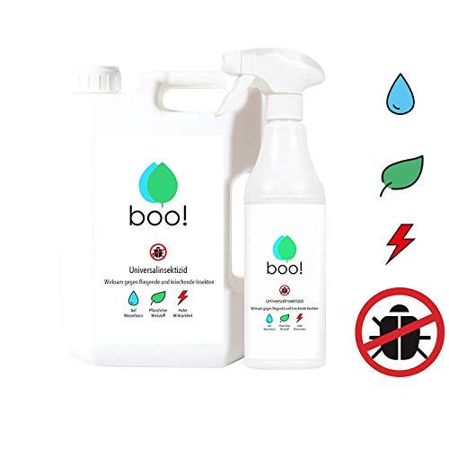 boo! Insektenspray - Insektenschutz als Spray gegen Mücken, Milben, Bettwanzen etc - Insektizid - Pflanzlicher Wirkstoff - 2,5 Liter -