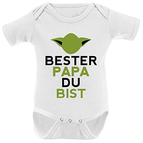 Mikalino Babybody Bester Papa Du Bist Kurzarm, Farbe:Weiss;Grösse:62