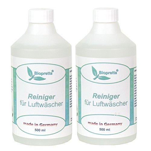 Biopretta 2 x 500 ml 1 Liter Reiniger für Luftwäscher Luftreiniger Luftbefeuchter Raumklimaverbesserer
